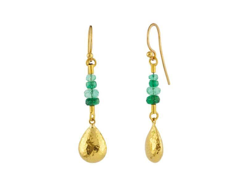 Gurhan 24k Delicate Bead Short Hollow Drop Earrings 4wvaKgtRD