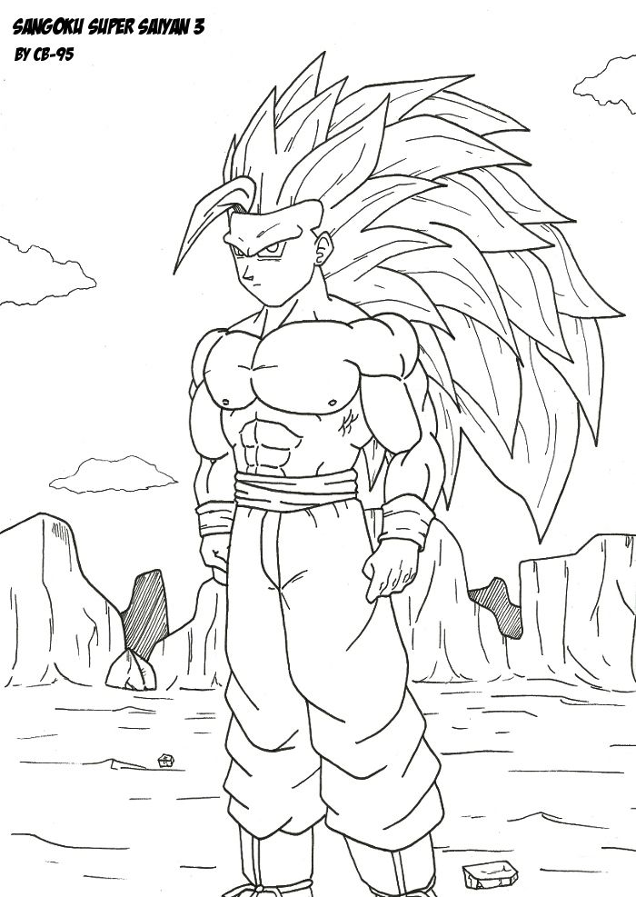 Coloriage Dragon Ball Z Sangoku Super Saiyan God Autonomie Tous
