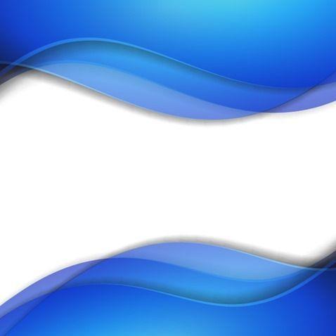 Abstract Blue Smooth Wave Vector Background Biru Spanduk Desain
