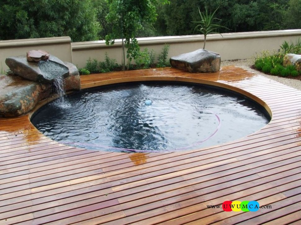 Swimming Pool Wonderful Mini Swimming Pool Deck Ideas Inground