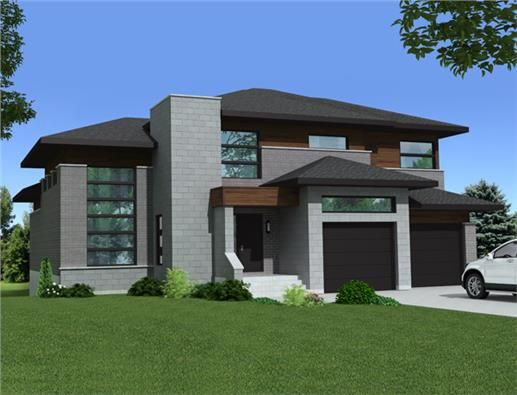 This lovely Contemporary style home with Multi-Level influences ...