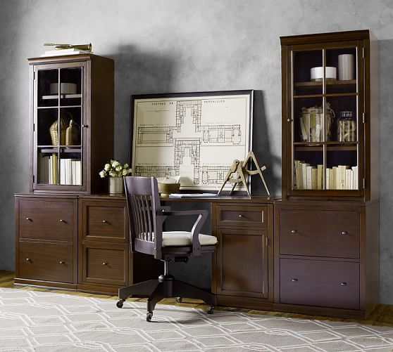 Logan Office Suite With File Cabinets Amp Glass Towers