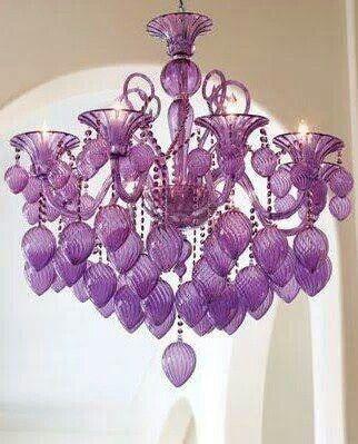 Purple passion chandelier