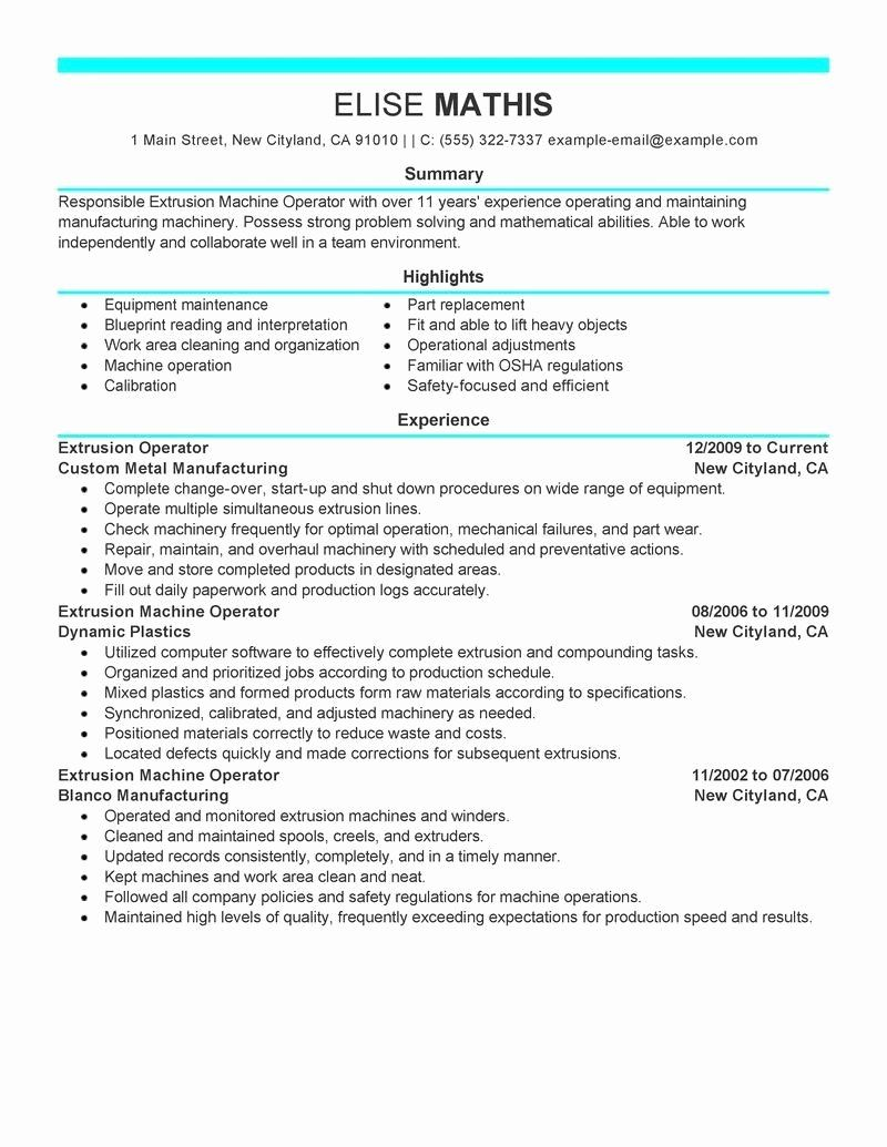 Certified forklift Operator Resume Fresh Warehouse
