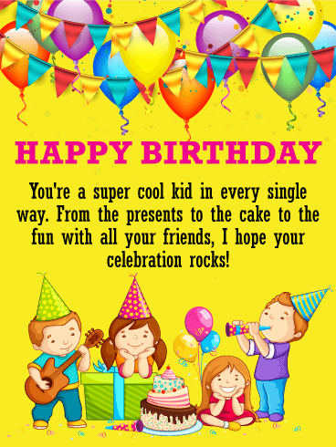 A Special Kid Deserves A Special Birthday Wish This Cheerful