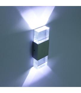 applique murale led design verre 4w éclairage