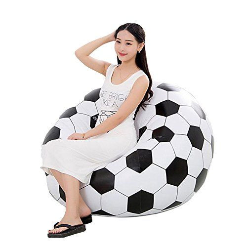 Inflatable Chair Botitu Large Cool Football Design