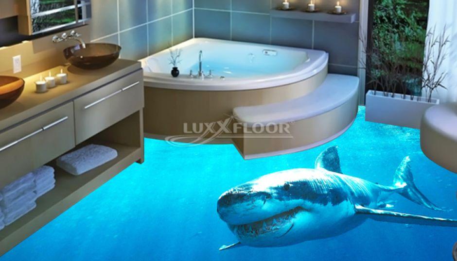 3d Boden Luxxfloor Hier Findest Du Alles Uber 3d Boden Und Fotoboden In 2020 Bodenbelag Fur Badezimmer Badezimmerboden Badezimmer 3d Boden