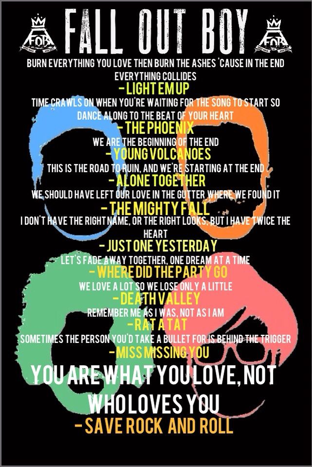 my favorite quotes slash lyrics from fall out boy's save ...