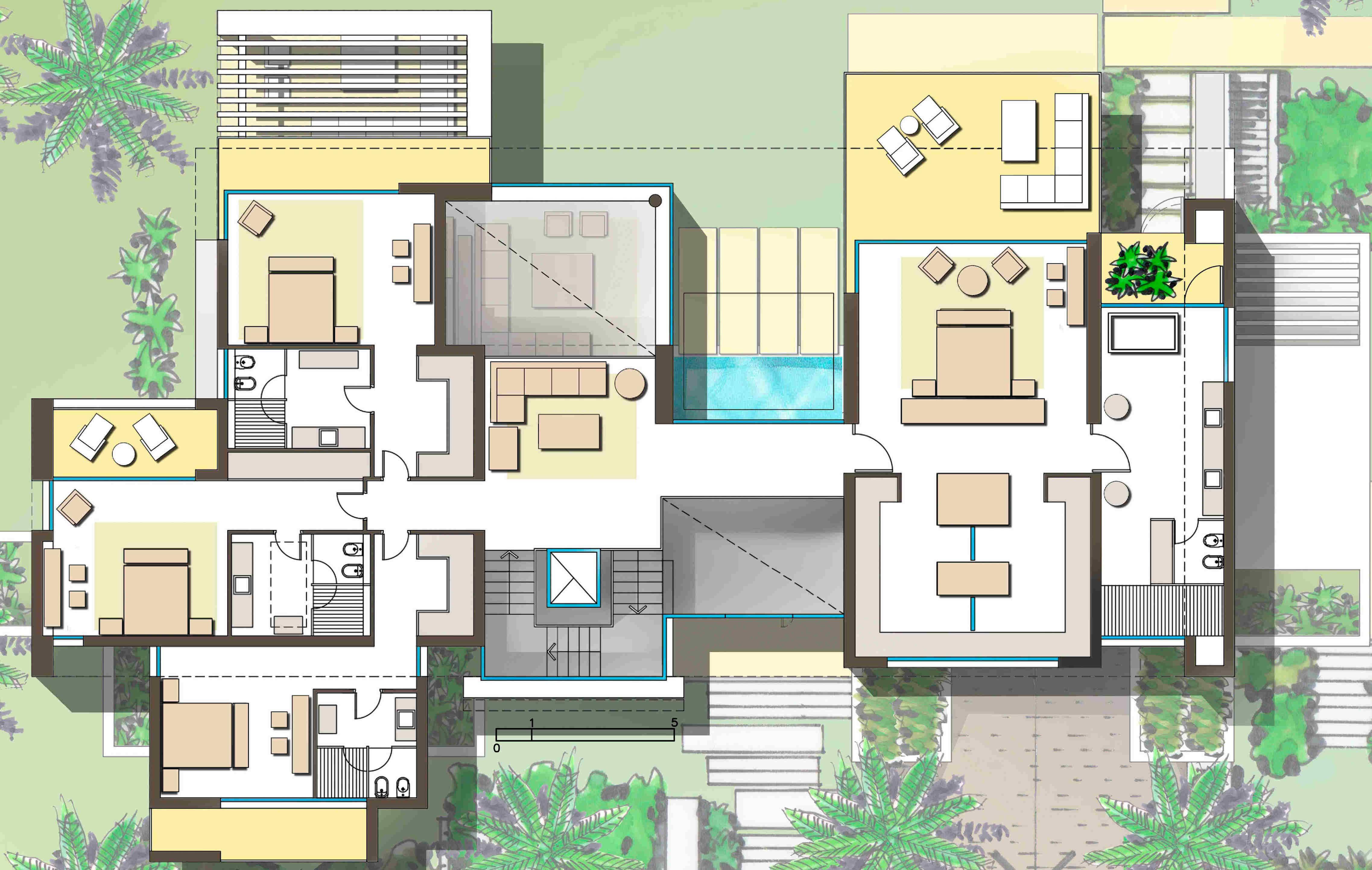Villas de lujo los monteros marbella malaga planos arquitectura casas y lujos - Planos casas de lujo ...