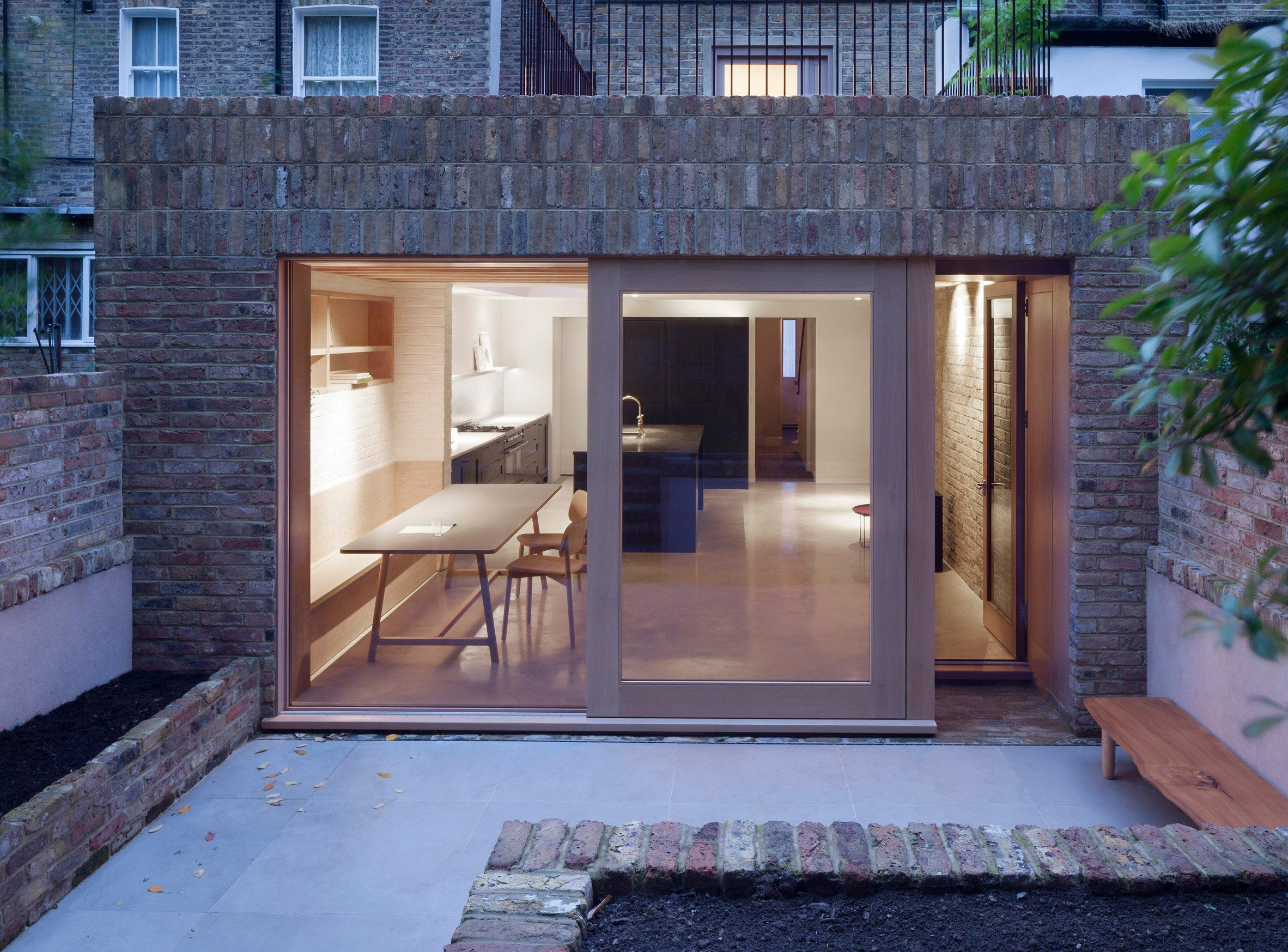 Timber And Textured Brick Surfaces Soften Interior Of Extension By O Sullivan Skoufoglou Architects Floor Renovation Victorian Terrace House Architect