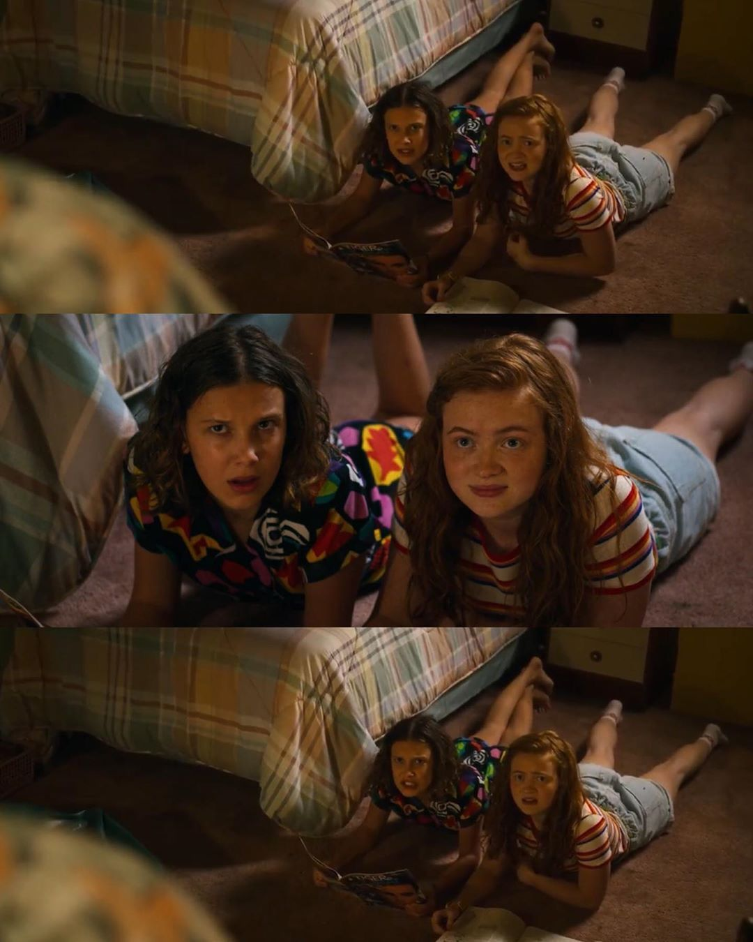 Eleven and Max having a sleepover  Stranger Things Season 3