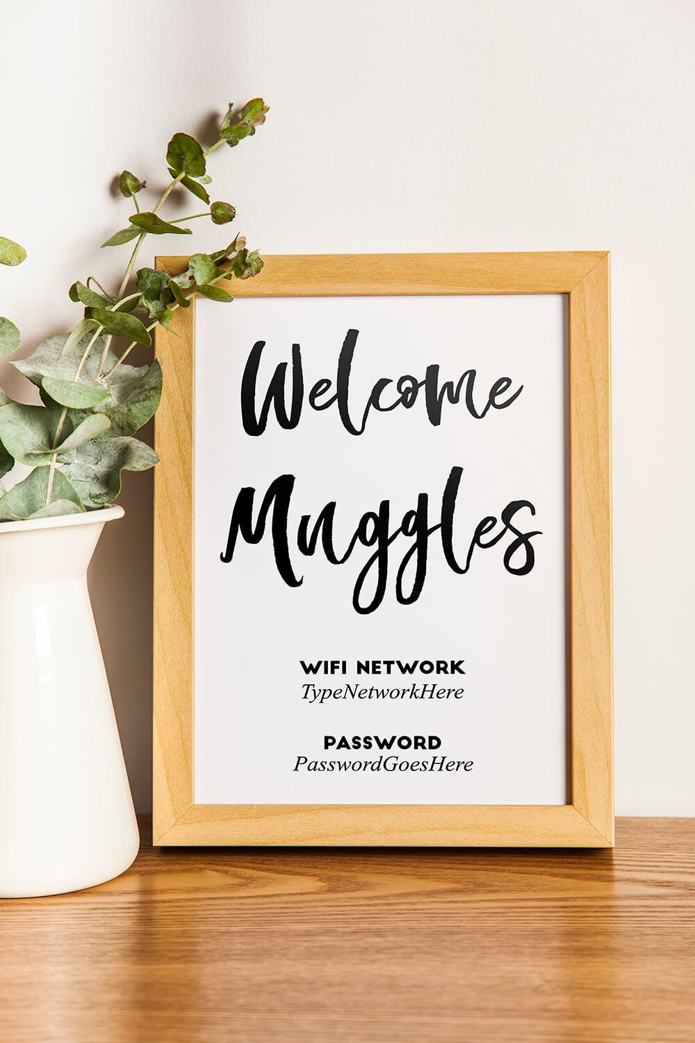 photograph about Wifi Password Printable Free called Welcome muggles harry potter cost-free printable wifi pword