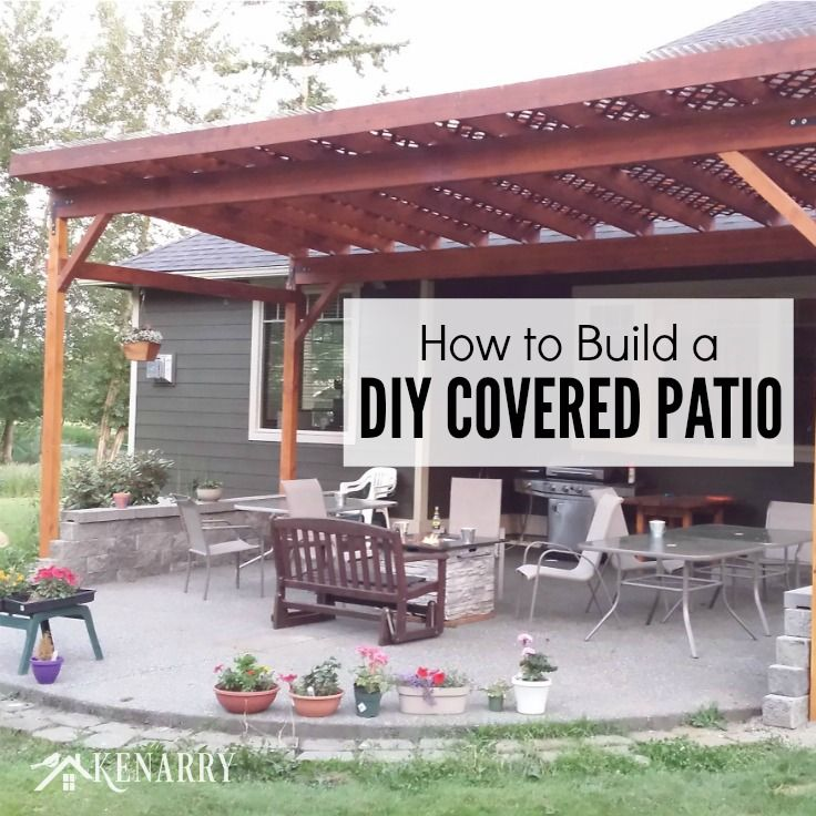 How To Build A DIY Covered Patio DIY Ideas Patio Overhang Ideas Diy Patio Patio