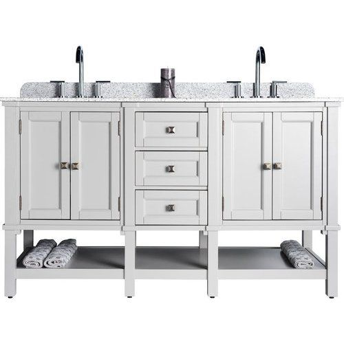 Jsg Oceana 60 Inch Ashlyn Double Sink Bathroom Vanity With Two