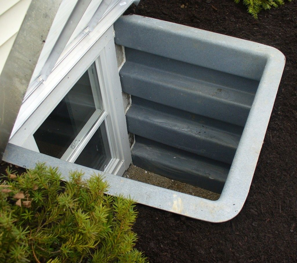 redi exit compact series egress window well is used when space is rh pinterest com Basement Window Framing Basement Storm Windows and Screens