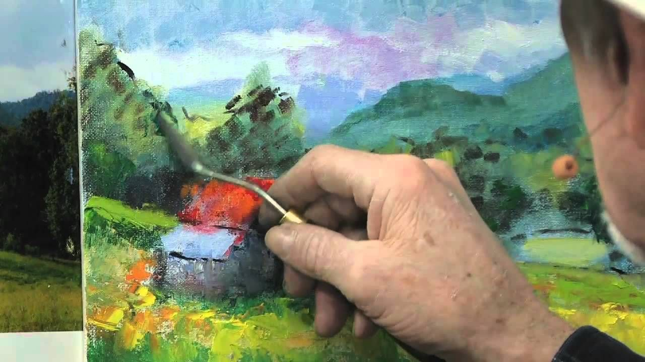 How to Use a Palette Knife in Oil Painting Landscape