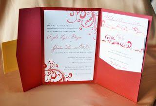 red wedding invitations wedding invitations pinterest