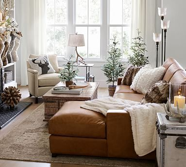 Turner Square Arm Leather Sofa Chaise, Turner Sofa Pottery Barn Reviews