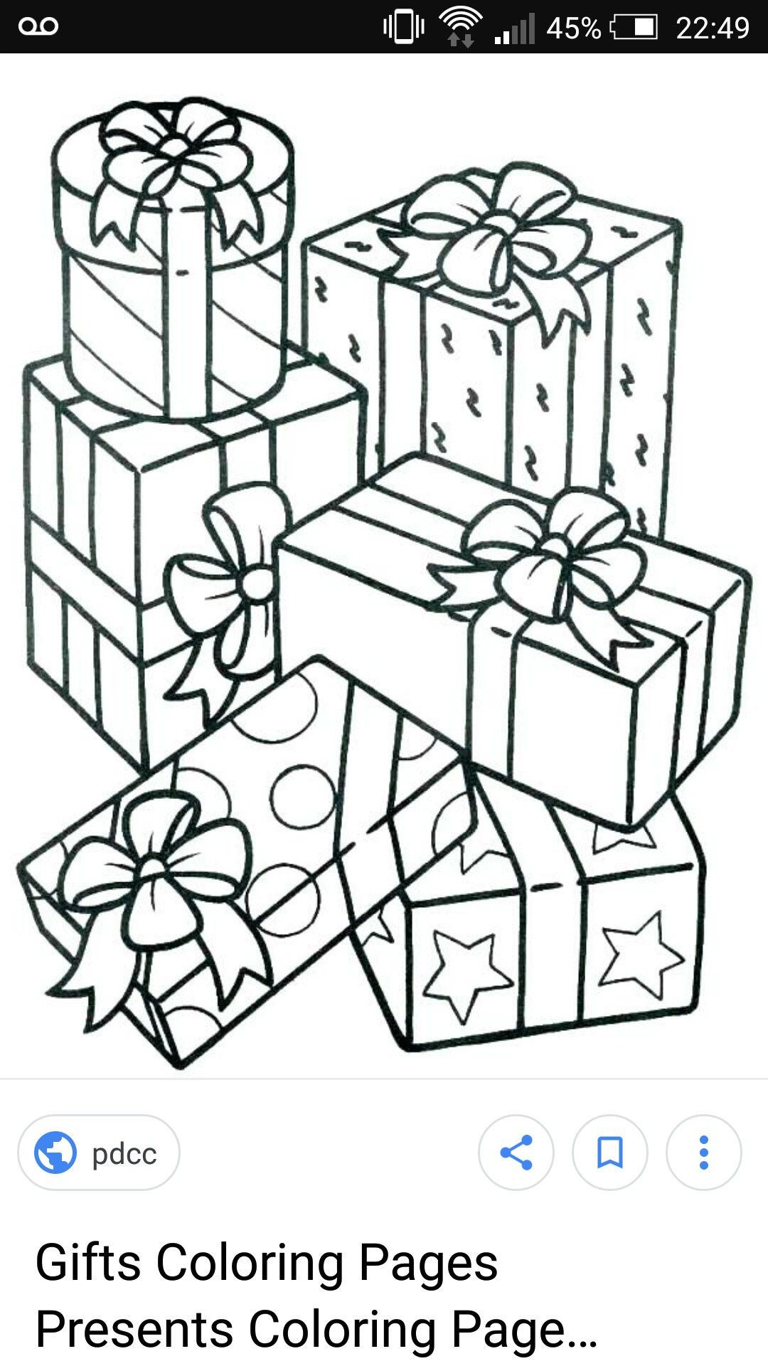Presents Coloring Pages Christmas Gift Coloring Pages Christmas