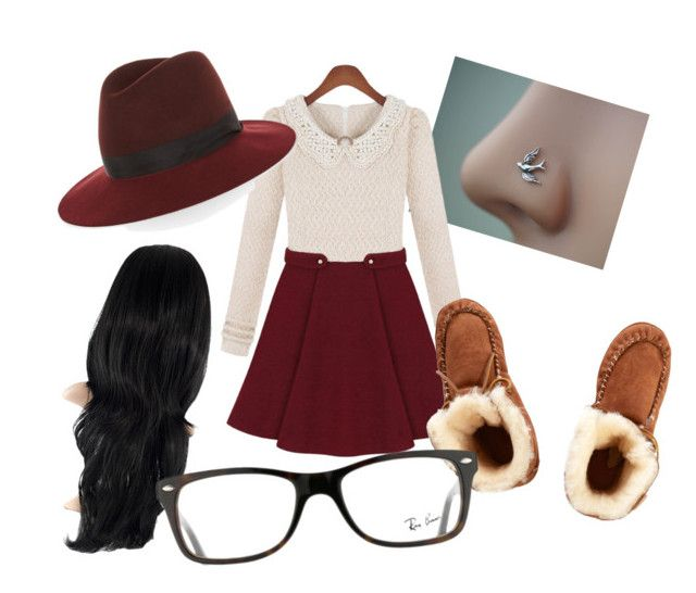 """Cute Chick"" by infiniteglo on Polyvore featuring Just Sheepskin, rag & bone and Ray-Ban"