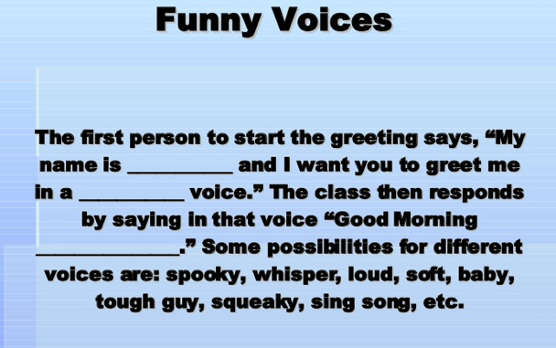 Morning meeting greeting good for adjectives student teaching morning meeting greeting good for adjectives m4hsunfo