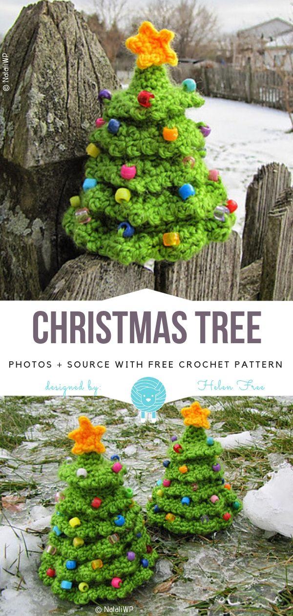 Weihnachtsbaum kostenlose Häkelanleitung #christmascrochetpatterns