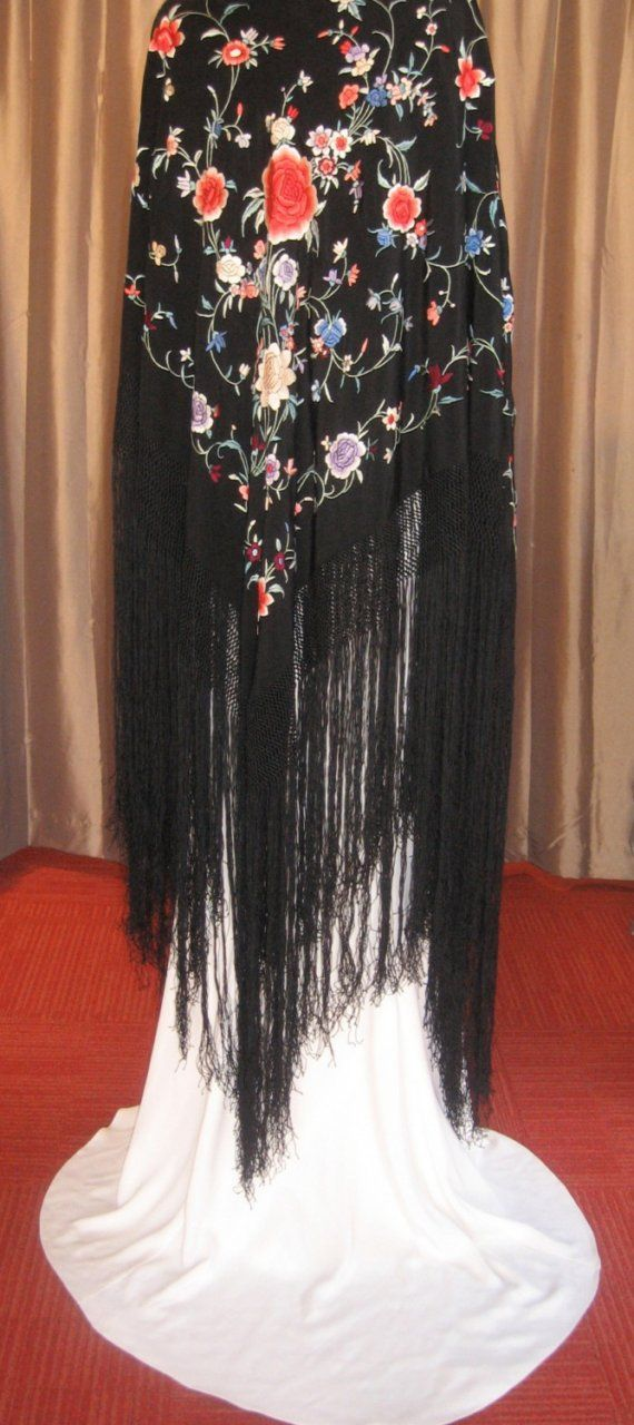 Circa 1920 Piano Shawl by camelliacollection on Etsy