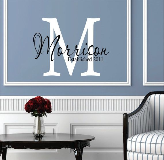 Etsy Family Wall Decor : Wall decals personalized family name decal