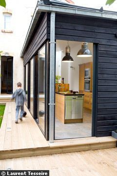 Une extension de 30 m2 pour ma cuisine architecture house extensions house design et wood - Extension cuisine ...