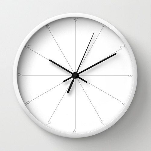 Minimalist Wall Clock Grey White Designer The Design Gift Whiteout Circle Large Modern Metal Clocks
