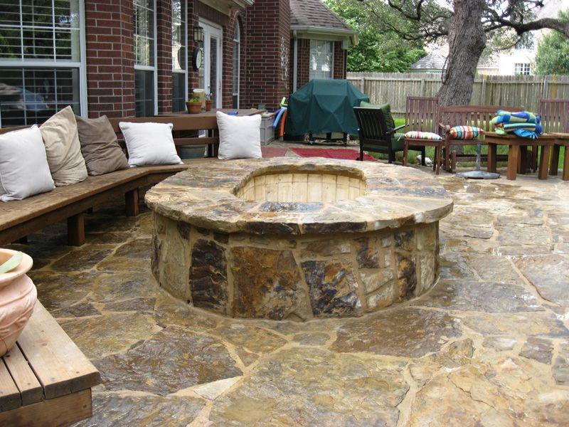 Fire pits outside austin outdoor fire pits outdoor for Fire pit ideas outdoor living