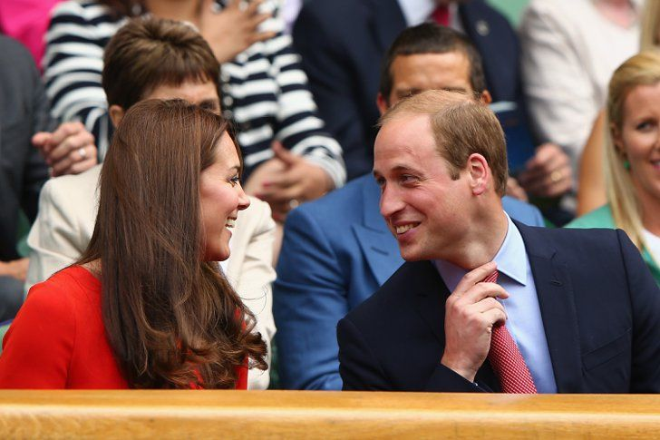 Pin for Later: William and Kate Look Like 2 Teenagers in Love During Adorable Wimbledon Date