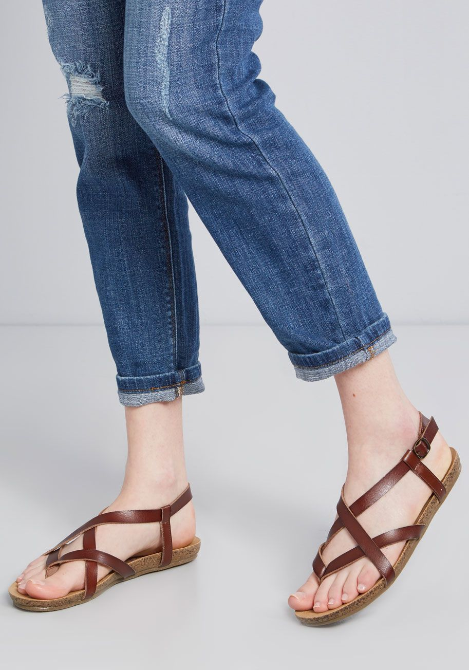 aff0402bf Everyday Nonchalance Sandal in Brown - Even your mellow attitude can t hold  back your glee over these whiskey-brown sandals by Blowfish!