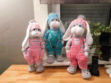 Photo of Crochet pattern for Gabis rabbits Schmusi, approx. 40 – 45 cm tall, including a small Schnuffeltuch