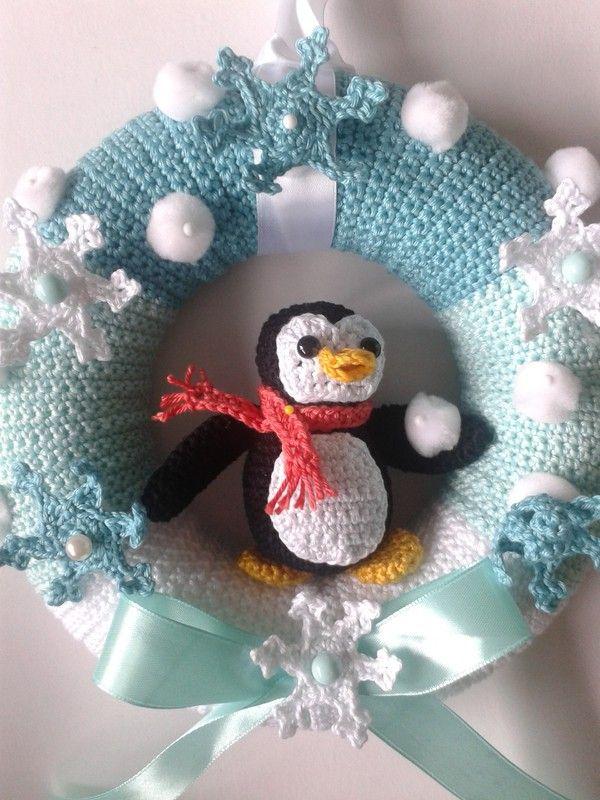 Türkranz Winter Diys Pinterest Crochet Wreath Wreaths Und