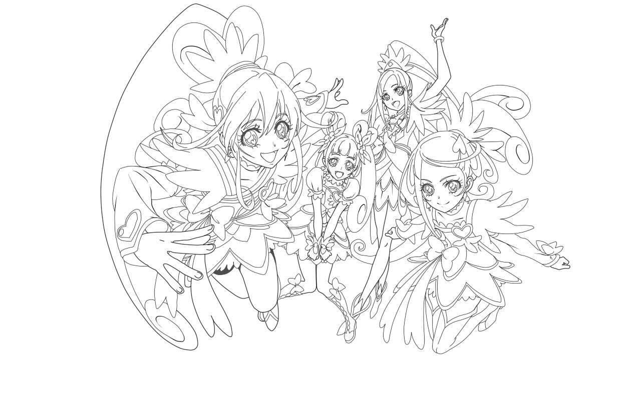 glitter force doki doki coloring pages Dokidoki precure coloring pages | Coloring Book Pages | Pinterest  glitter force doki doki coloring pages