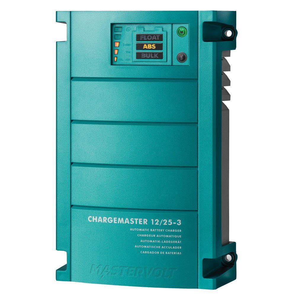 Mastervolt Chargemaster 25 Amp Battery Charger 3 Bank 12v Charger Automatic Battery Charger Locker Storage