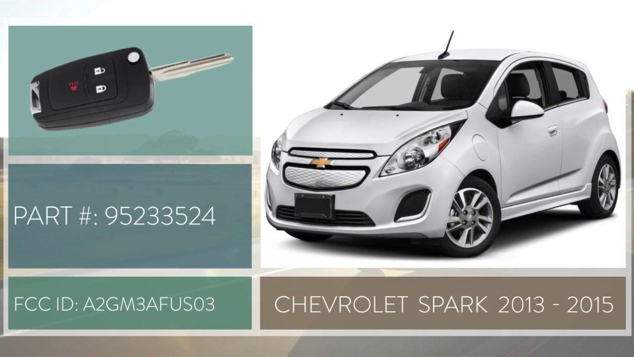 How To Replace Chevrolet Spark Key Fob Battery 2013 2015