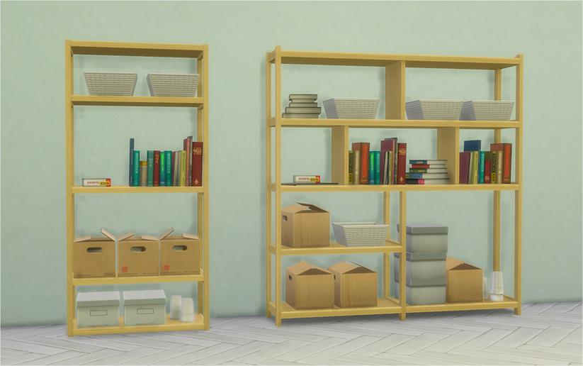 Dorm Bookshelves Converted From TS3 University Life O Bookshelf 1x1