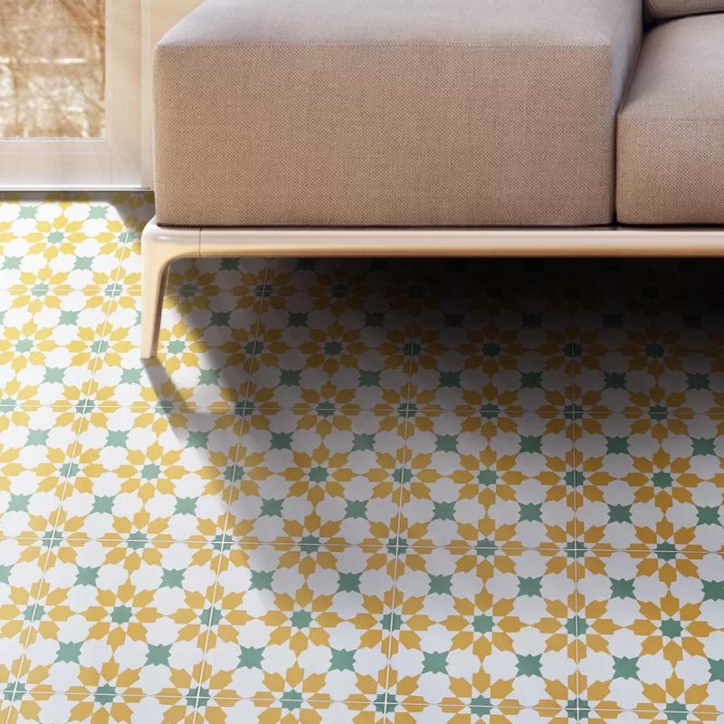 Ahfir 8 X 8 Cement Patterned Wall Floor Tile Tile Floor Wall Patterns Ahfir