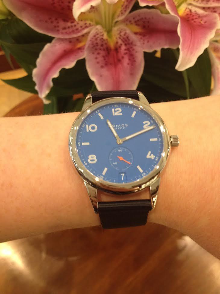 00a1587f401e Nomos Glashutte Watch Club Automat Datum Signalblau in W. Hamond Leeds.