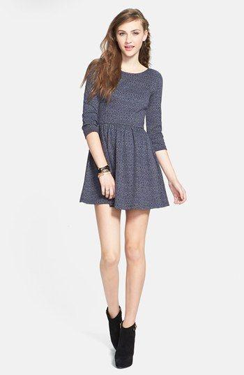 BP. Geometric Jacquard Skater Dress (Juniors) available at #Nordstrom #SWEEPSENTRY