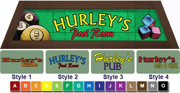 Put your name on itpersonalized pool table light box style green billiard pool table lights greentooth Choice Image