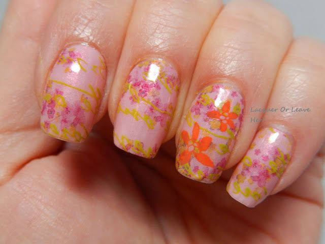 Incoco's Picture Perfect Spring 2015 collection: Cherry Blossoms + stamping #incoco #nailart #notd