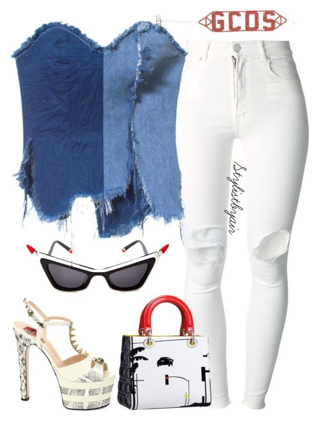 """Untitled #7043"" by stylistbyair ❤ liked on Polyvore featuring (+) PEOPLE, Gucci and Moschino"