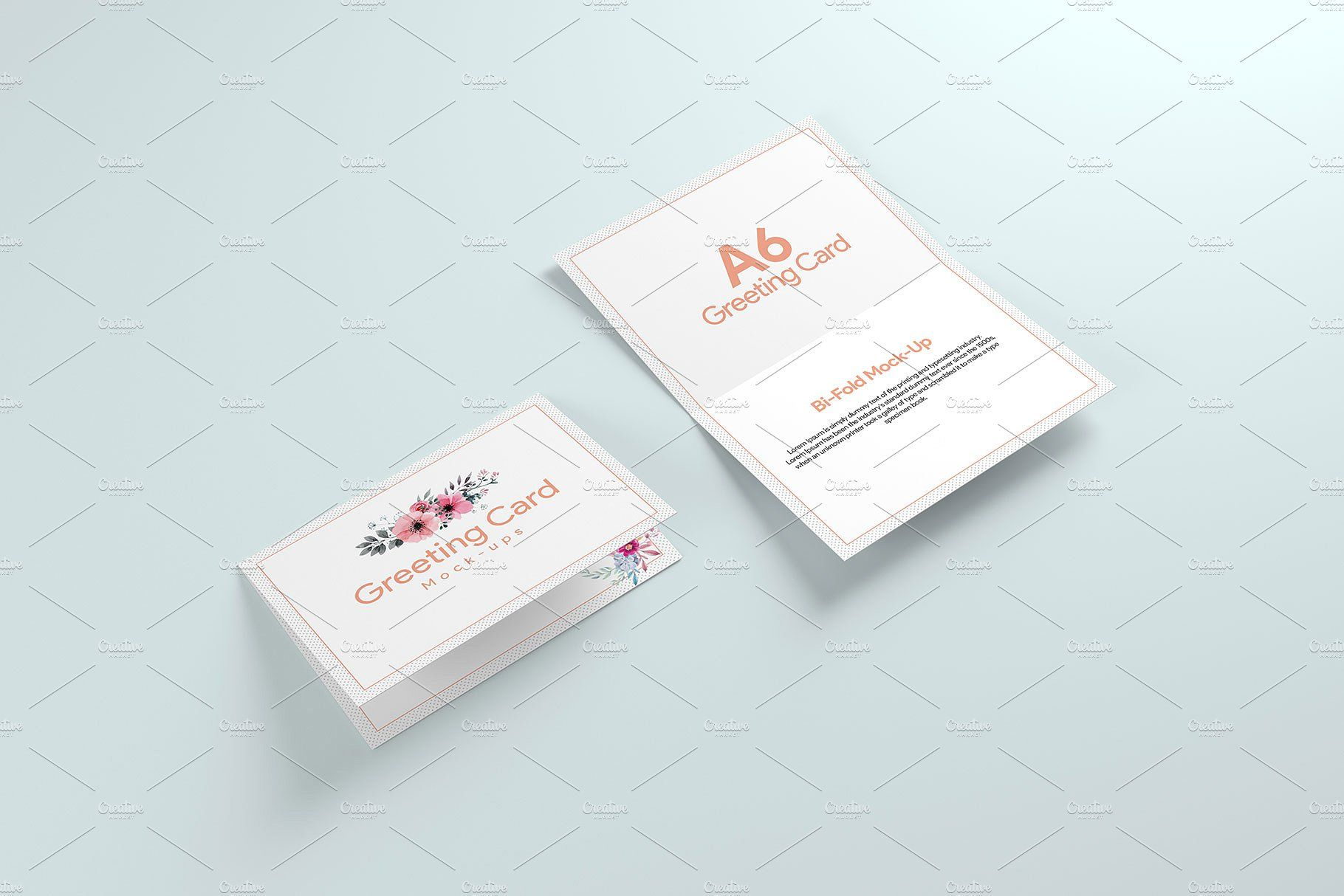A6 Greeting Card X2 Mockup Greeting cards, Greetings, Cards