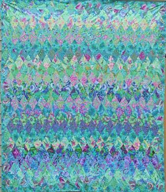 This simple diamond pattern (simple visually, not so simple in ... : kaffe fassett diamond quilt pattern - Adamdwight.com
