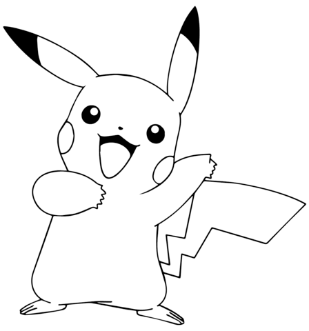 Pikachu from Pokémon GO Coloring page | lisa frank and more ...
