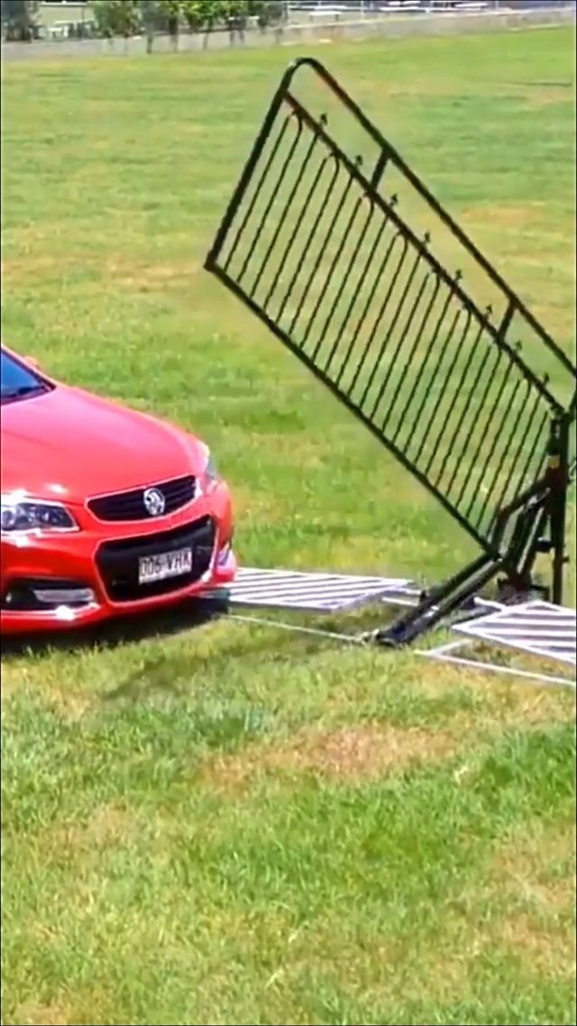 This non-electric gate is powered by the weight of a car.!
